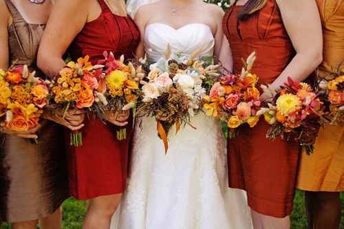Inspiration fall colors lily iris finally for Fall wedding dress colors
