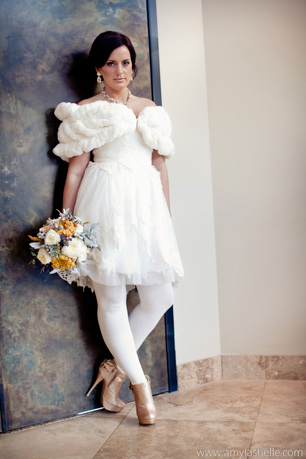 Bridal gallery short wedding and reception dresses for Wedding dresses short brides