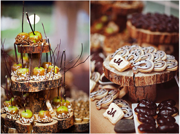 caramel apple bar big sky montana wedding