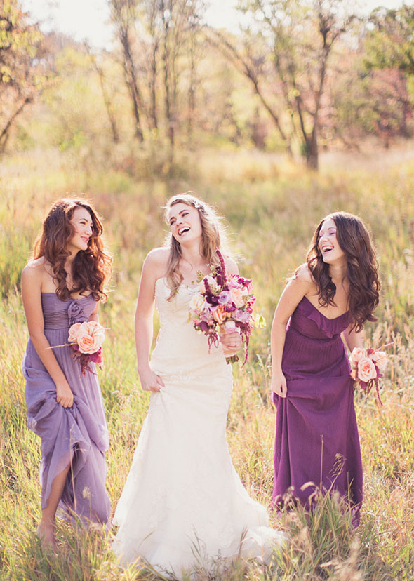 Floral wedding dresses for fall utah wedding