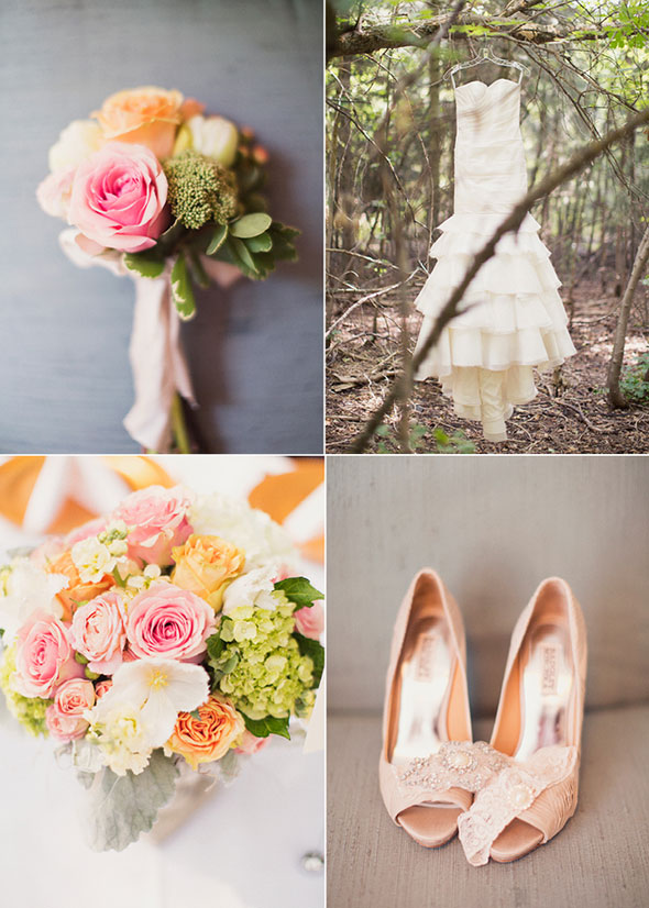 Utah wedding ideas in peach and coral