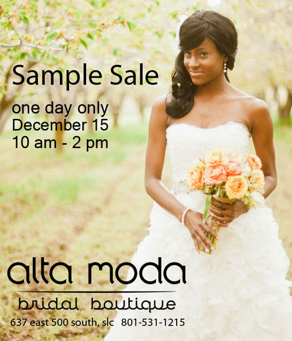 designer wedding dress sample sale