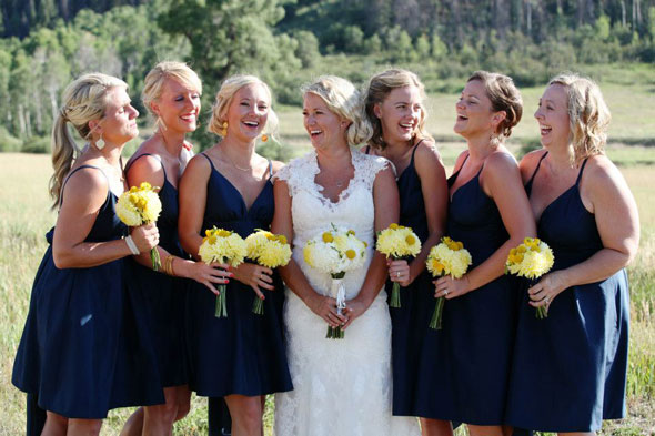 Navy blue summer wedding dresses