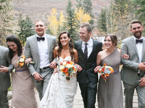bridesmaids at sundance fall wedding