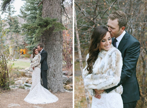 bridal fur utah wedding at sundance