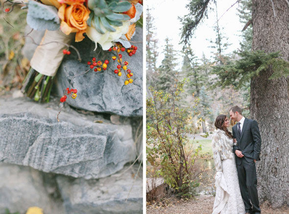 utah sundance resort fall wedding