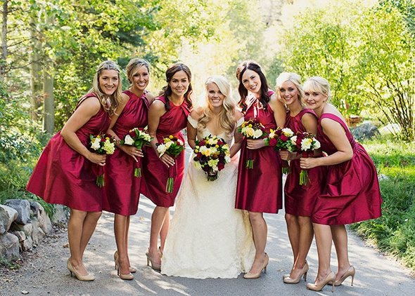 bridesmaids dresses with pockets from Alfred Sung