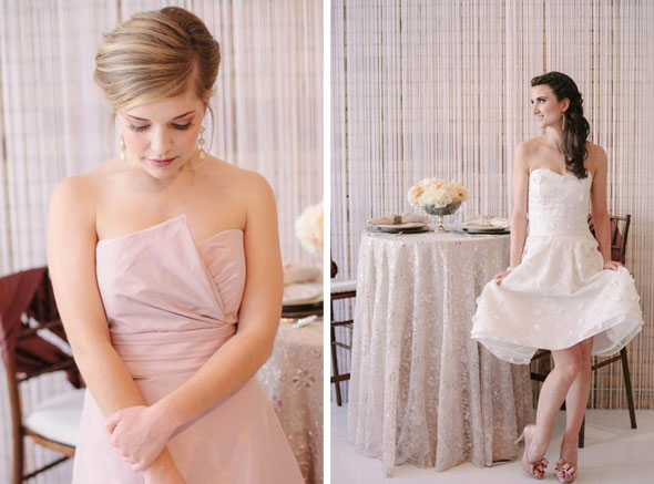 blush bridesmaids dresses in Utah