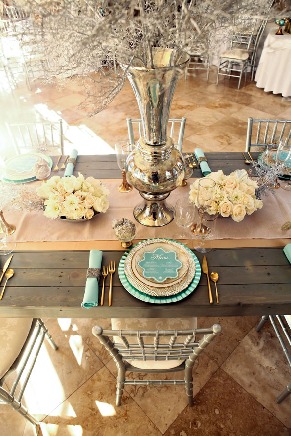 mint and gold winter wedding inspiration