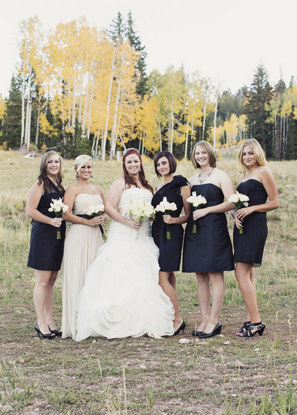 Fall Wedding With Black Bridesmaid Dresses : Bridesmaids alfred sung real dessy