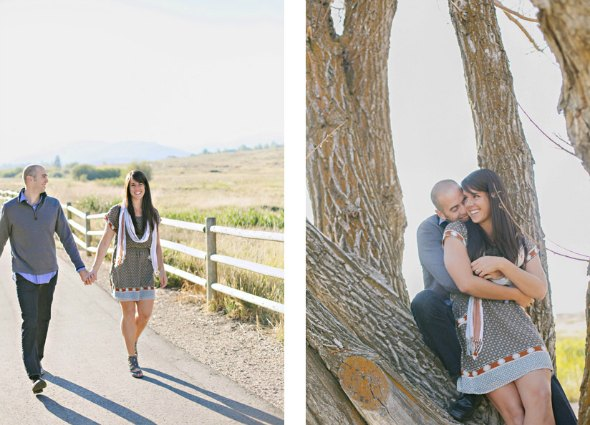 utah wedding engagement photos