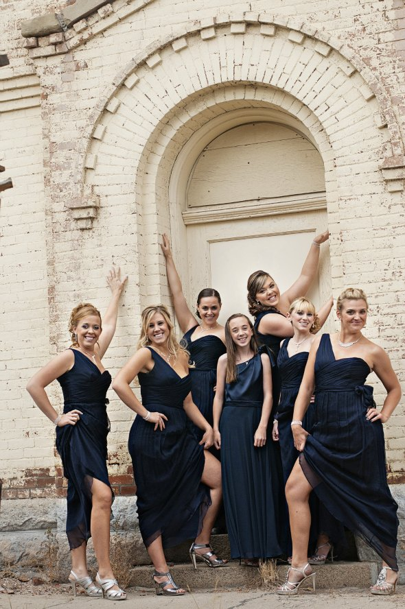 Montana fall wedding bridesmaids dresses