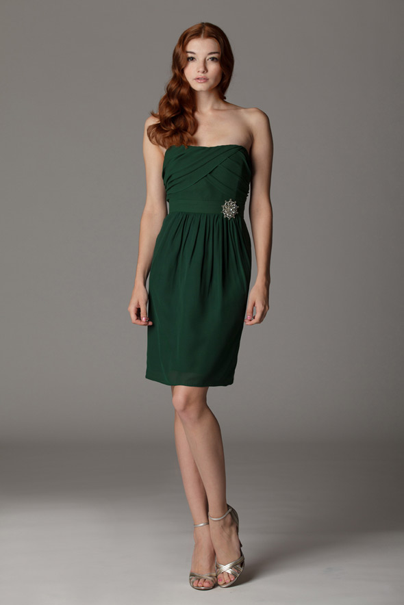 strapless green bridesmaids dresses in Salt Lake City