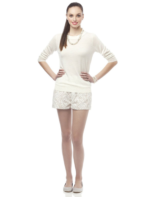 summer lace shorts for the bride