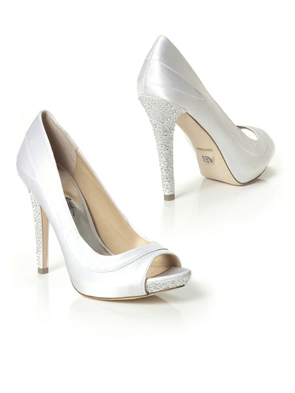 dessy bridesmaids crystal wedding shoes