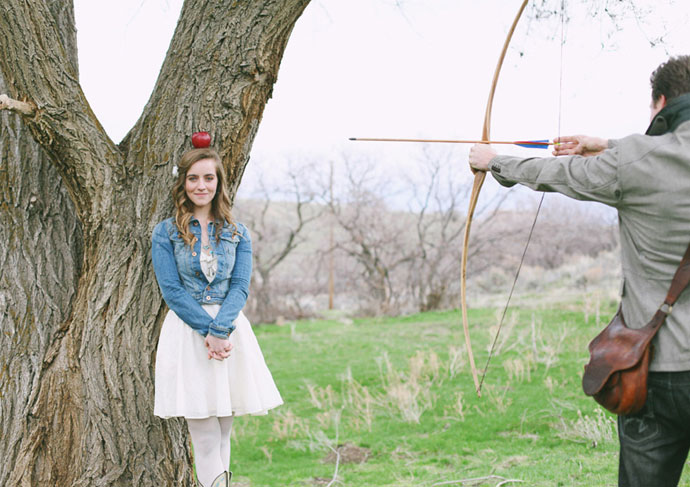 utah spring wedding themed engagement photography