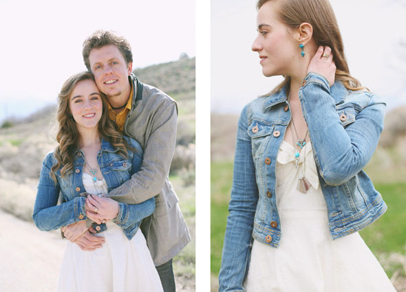 utah spring wedding engagement photography