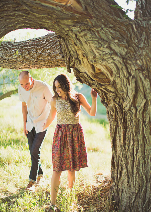 Utah summer engagement photos