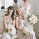 neutral and blush bridesmaids dresses for utah wedding