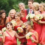 coral bridesmaids sun valley idaho