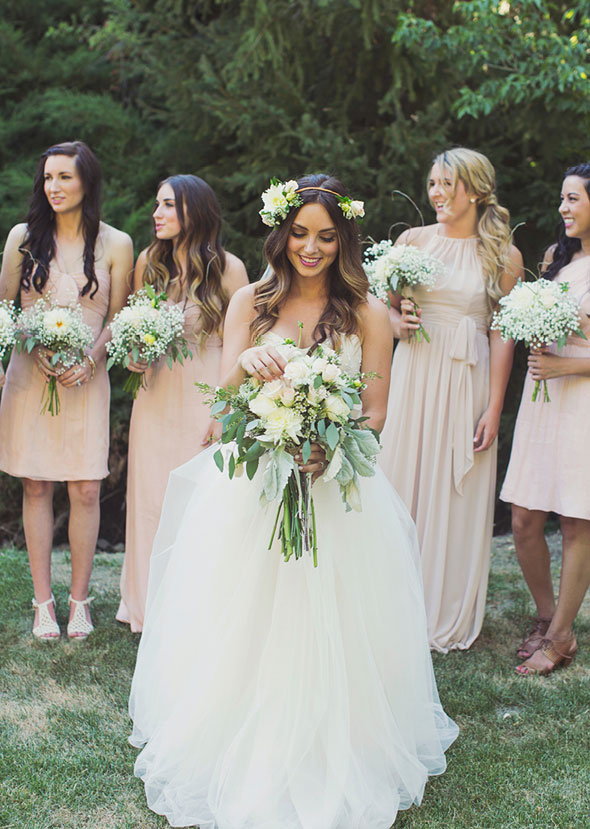 utah summer wedding bridesmaids dresses