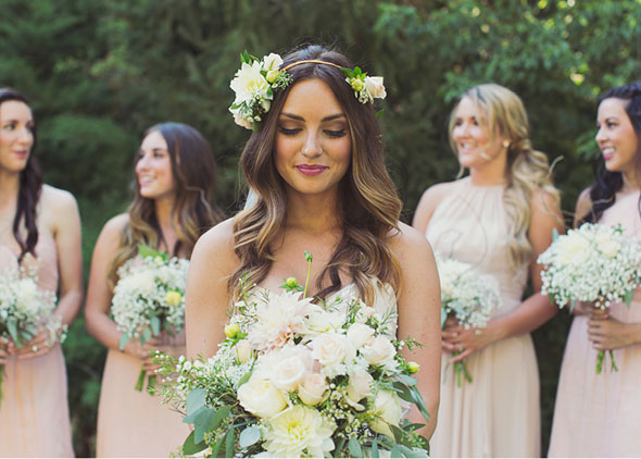 Utah Wedding Blush Bridesmaids Dresses