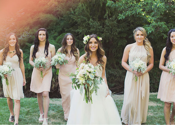 Summer Wedding Dresses And Bridesmaids Dresses 16