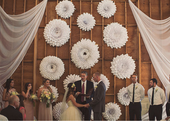 summer wedding backdrop
