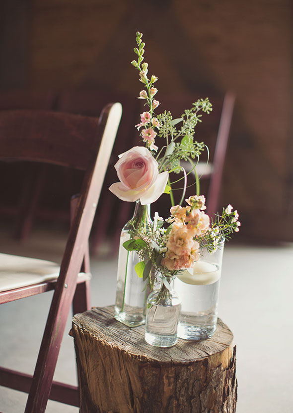 Rustic Centerpieces For Summer Weddings : Rustic summer wedding with blush bridesmaids dresses