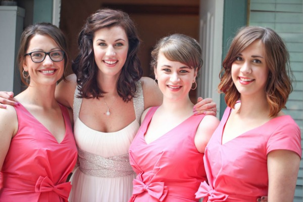 alfred sung bridesmaid dresses at millcreek inn are available at lily and iris bridesmaids in salt lake city- photo by serena martineau