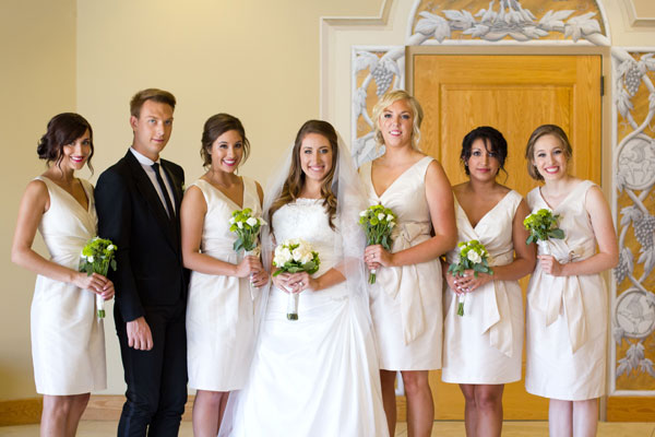 ivory alfred sung bridesmaid dresses for idaho wedding- photo by kate jennings