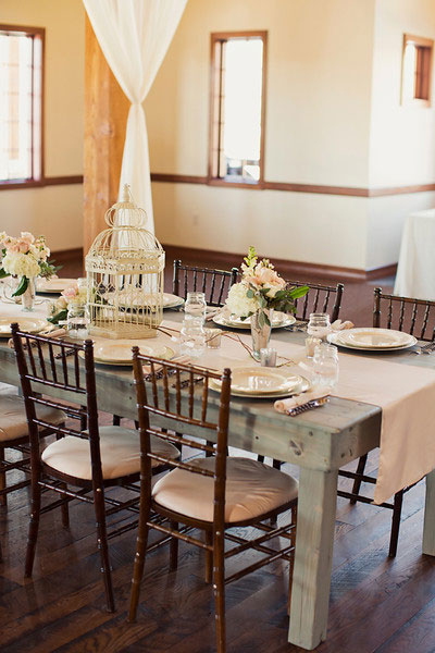 Utah spring wedding reception