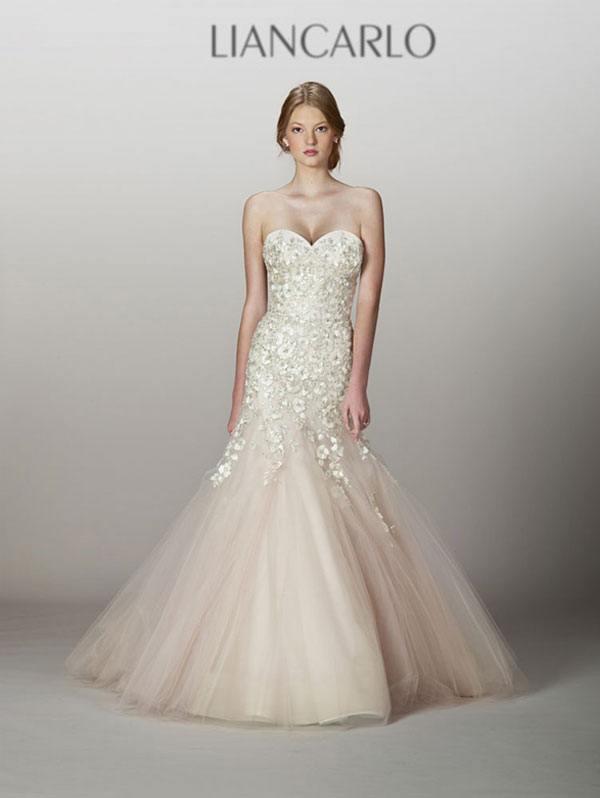 Liancarlo blush wedding dresses in Utah