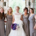 modest grey bridesmaid dresses from lily & iris in salt lake city