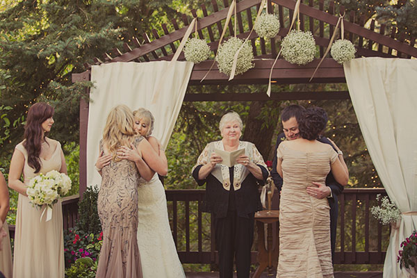 champagne and ivory wedding ceremony at millcreek inn in utah- photo by alixann loosle