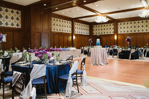 st regis reception center features ombre wedding-photo by heather nan