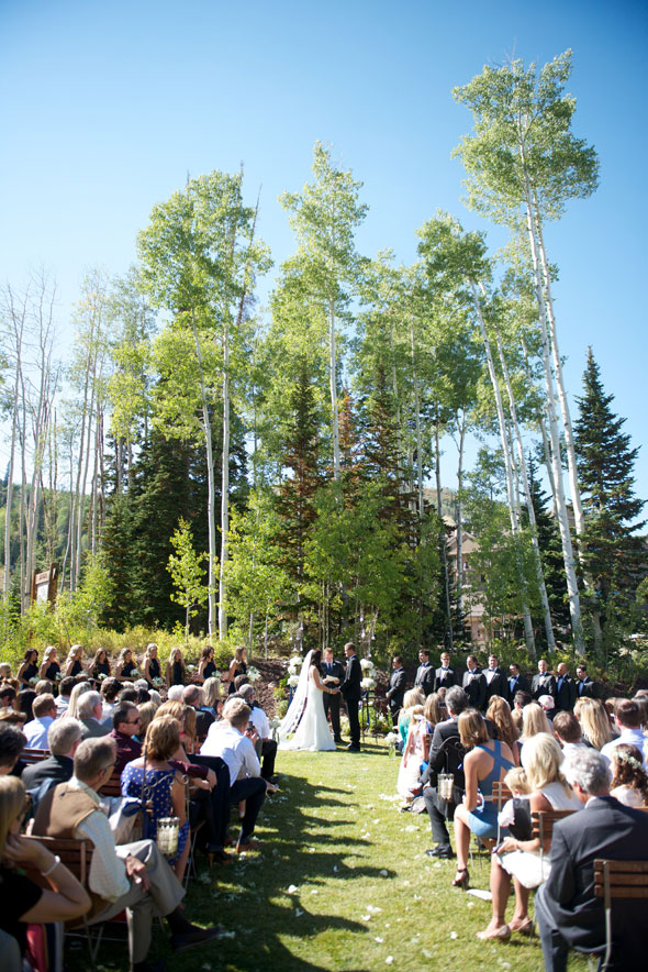 ceremony site for park city summer wedding- photo by dezember