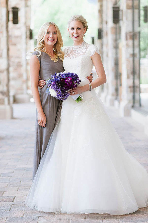 modest maid of honor dress by lily & iris in salt lake city-photo by heather nan