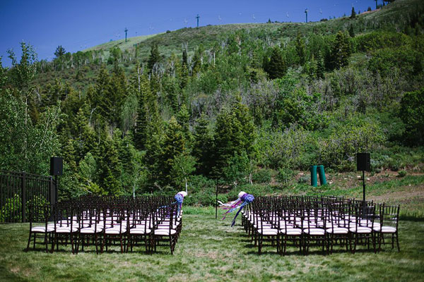 ceremony site at st regis in park city utah- photo by heather nan