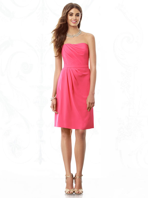 strapless short bridesmaid dress by after six