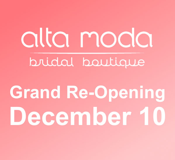 Alta Moda Bridal will reopen Salt Lake wedding dress boutique