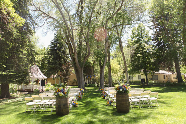 rustic ceremony site at the homestead hotel in midway utah- photo by Jacque Lynn photography