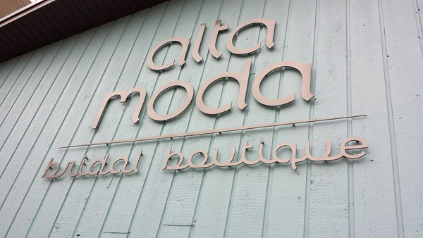 Alta Moda bridal boutique grand re-opening