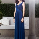 cross ruched waist navy dessy bridesmaid dress 2913