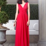 empire waist v neck dessy bridesmaid dress 2907
