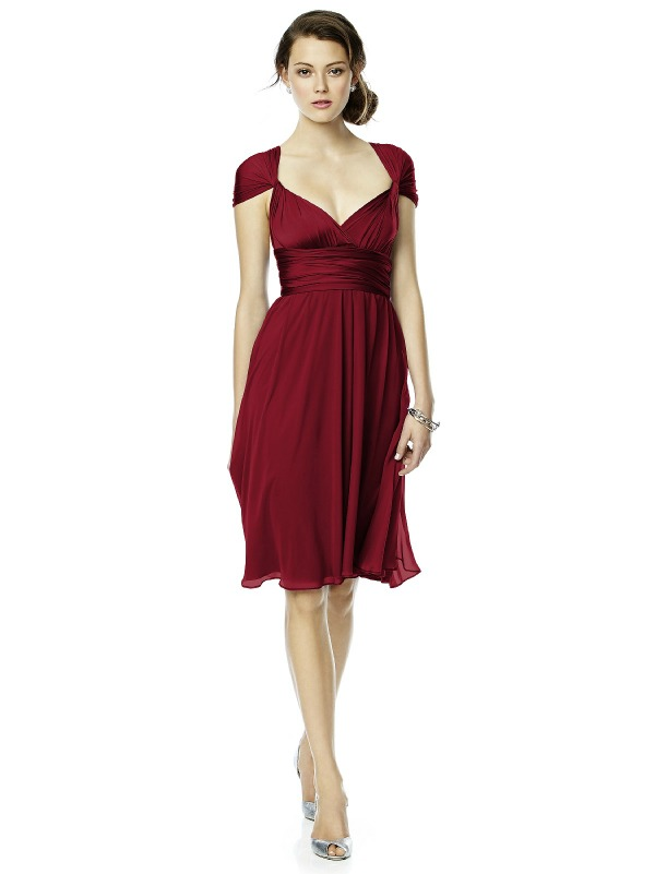 bridesmaids dress lux twist in claret red