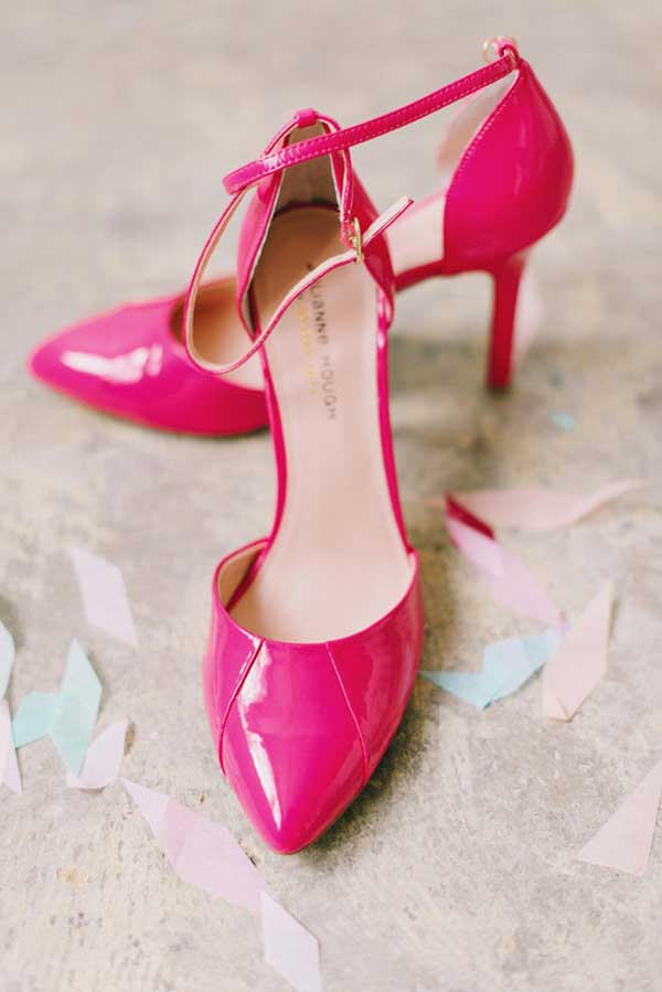 hot pink barbie wedding shoes
