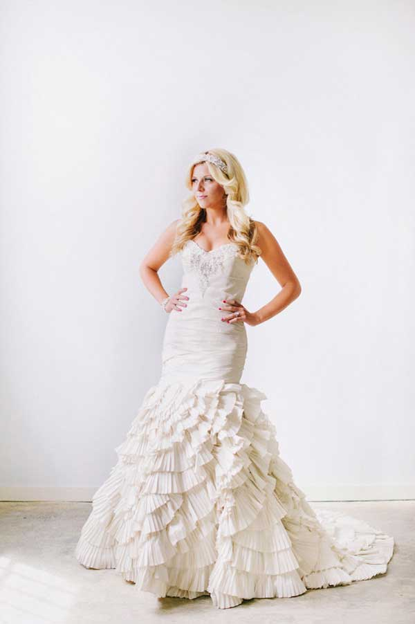 ruffled mermaid wedding dress from alta moda bridal utah