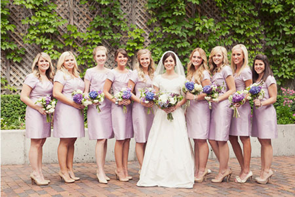 purple-modest-bridesmaids-dresses